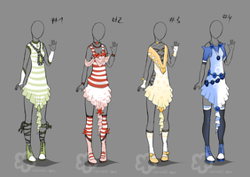 More Fancy Dress Designs - sold by Nahemii-san