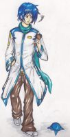 Kaito Marker Drawing by About12Kittens