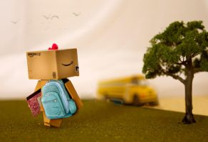 Danbo's First Day of School by BryPhotography