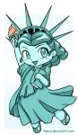 Chibi Statue of Liberty by keevs