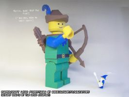 Giant papercraft LEGO Forestman minifig by ninjatoespapercraft