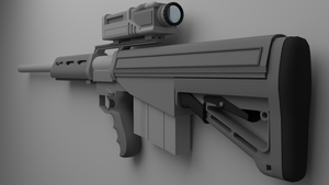 Sci Fi Sniper rifle (2/2) by Jo-weee