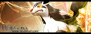 Banner: Shiny Mightyena--- by iSnow