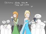 Frozen - More popular than her sister... by JackFrostOverland