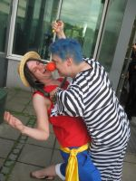 Animecon 2011- Buggy and Luffy by Festivaali