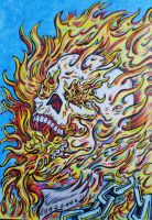 Ghost rider - Eat Chain (color version) by DustyPaintbrush