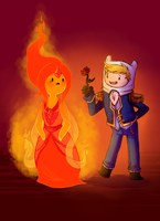 Finn/Flame Princess by theziminvader