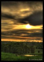 Sunset Over a Rolling Pasture by zieora