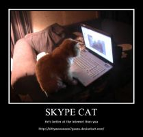 Skype Cat by LeonKSpiderKitty