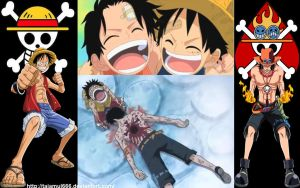 Ace and Luffy by tajamul666