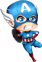 Captain America by jhustinian