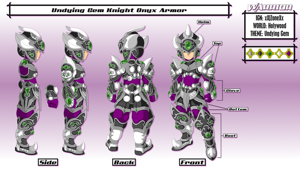 Undying Gem Knight Onyx Armor by Avian07