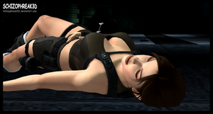 Lara Croft- Sedated 1 by Schizophreak3D
