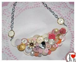 Pastel button bib by prettyboyswearpink
