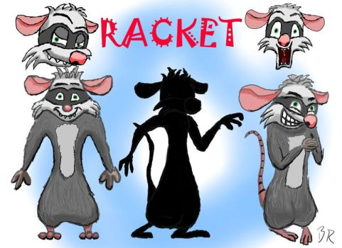Racket Model Sheet 2 by RaccoonRat