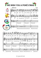 PokeX'mas Music Sheet by mashi