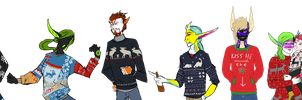 Ugly sweaters and hot drinks by ConduitofBreath