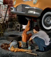 Married to muscle_Car Jacked by rainbowscriber