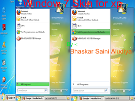 Window7 skin for xp by BHASKARSAINIALUDIYA