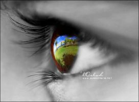Happy.eye.in.a.despaired.world by lOolah