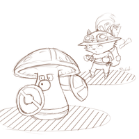 teemo trainer sketch by Runxforest