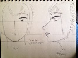 My Jian Yue (2P!Fem!China) Sketch-Out by Myindiansummer