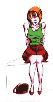 green top red skirt by Tchetchene