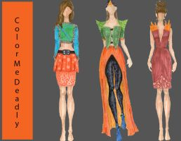 Line up for fashion illustration final by muhmo