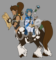 Centaur-and-elf WIP 2 by Songficcer