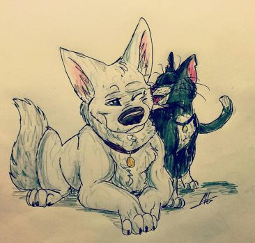 Bolt and Mittens by Anyalove