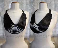 Neck collar with ribbons by AtelierSylpheCorsets