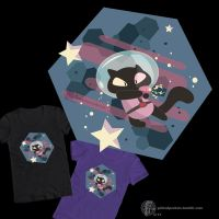 Cookie Cat tee by PickedPockets