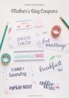 Printable Mother's Day coupons by ClementineCreative
