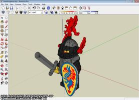 papercraft LEGO Black Knight WIP 9 by ninjatoespapercraft