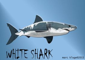 Big White Shark by Gopherproxy