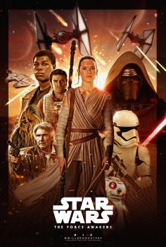 Star Wars - The Force Awakens Poster by willbrooks