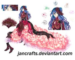 Peacock Princess Adopt Auction [CLOSED] by jancrafts