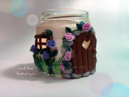 Polymer Clay Candle House by SweetIva