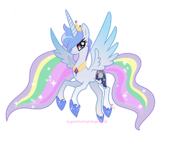 Princess Moonlight Starbow by SugarMoonPonyArtist
