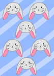 Cute Bunny Pattern by animecat33