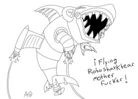 Flying Robo Sharkbear by Kite-ridE