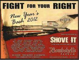Bombshells New Years 2012 flyer by Agent-Spiff