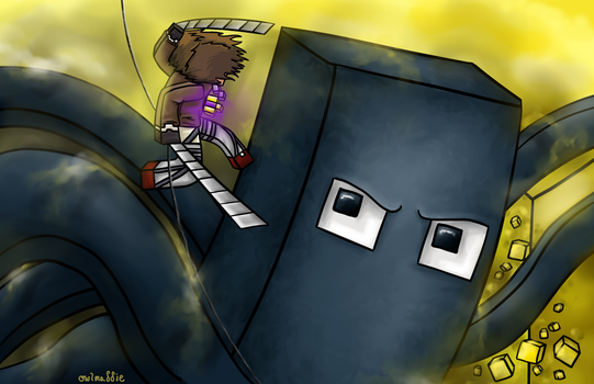Attack on Squid by owlmaddie