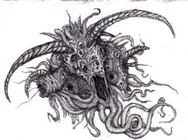 Lovecraft - Shub Niggurath, Goat with a 1000 Young by KingOvRats
