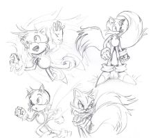 Doodles of Tails (2008) by La-Nora