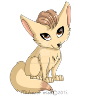 Fennec Fox by Stormweaver-Arts