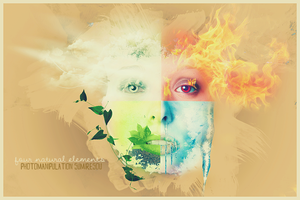 four natural elements face by sumires0u