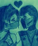 SubZero x Kitana: Blue Love. by J0c3Ln