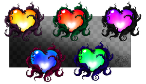 Mystery Hearts - Available on Redbubble! by Greteh