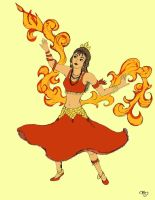 Firebending Gypsy COLOR by maridawood